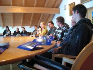 Studenten besuchen Wertach